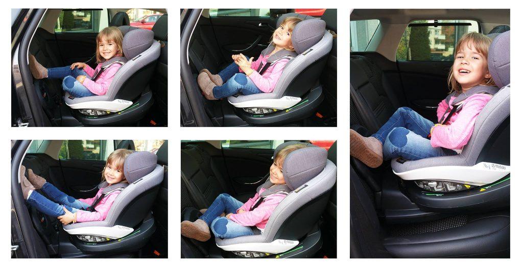 Co zrobić z nogami w foteliku tyłem do kierunku jazdy?